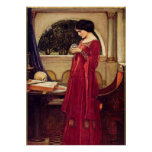 """""""The Crystal Ball"""" by John William Waterhouse Poster"""