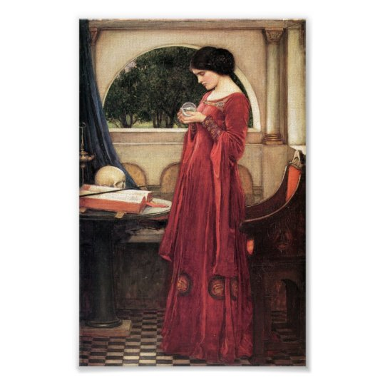 The Crystal Ball by Waterhouse Poster