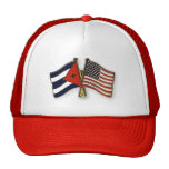 The Cuban Flag and the American Flag Cap