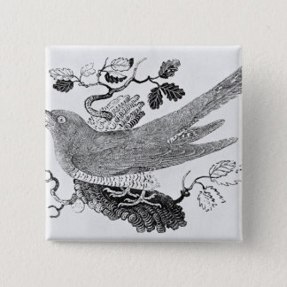 The Cuckoo 15 Cm Square Badge