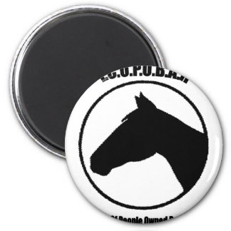 The Cult of People Owned by a Horse 6 Cm Round Magnet