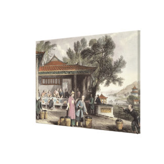 The Culture and Preparation of Tea, from 'China in Canvas Print