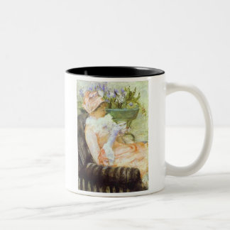 The Cup of Tea, Portrait of Lydia, Mary Cassatt Two-Tone Mug