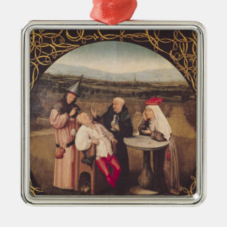 The Cure of Folly Silver-Colored Square Decoration