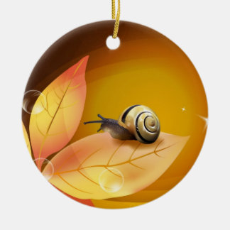 The curious Snail Christmas Ornament