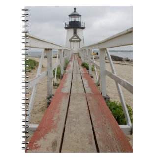 The current lighthouse, the last of many note books