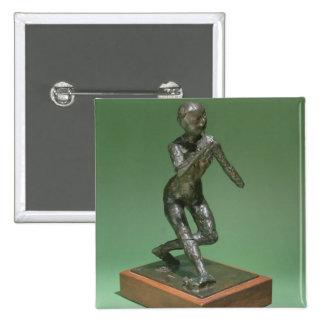The Curtsey, c.1896 (bronze) 15 Cm Square Badge