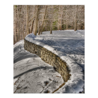 The Curving Wall Poster Print