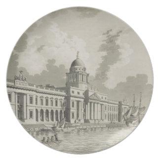 The Custom House, Dublin, 1792 (engraving) Party Plates