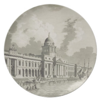 The Custom House, Dublin, 1792 (engraving) Dinner Plates