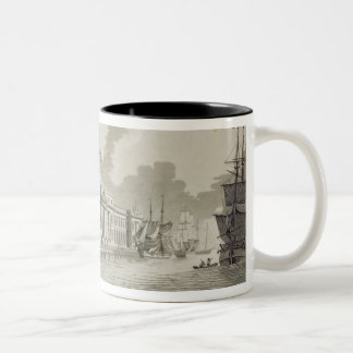 The Custom House, Dublin, 1792 (engraving) Two-Tone Coffee Mug