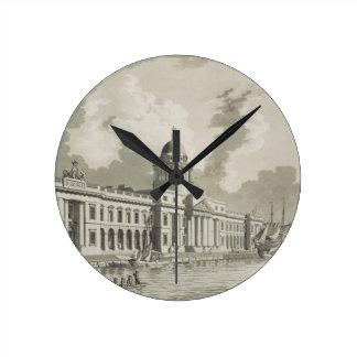 The Custom House, Dublin, 1792 (engraving) Wall Clock