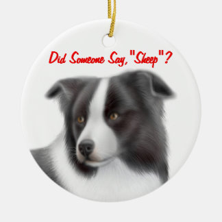 The Customizable Border Collie Herding Ornament