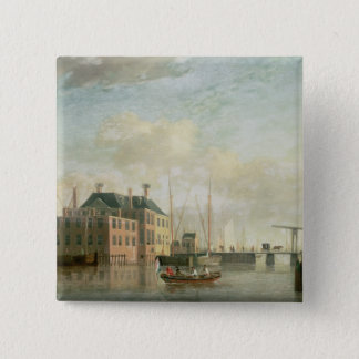 The Customs House, Amsterdam 15 Cm Square Badge