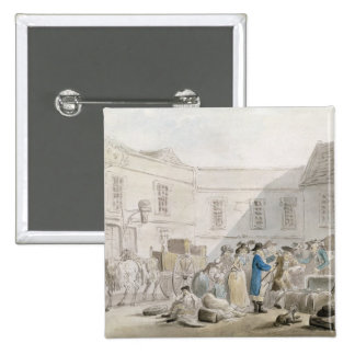 The Customs House at Boulogne (w/c with pen and gr 15 Cm Square Badge