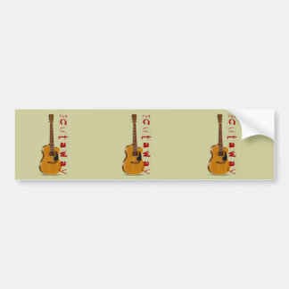 The Cutaway Acoustic Guitar Bumper Stickers