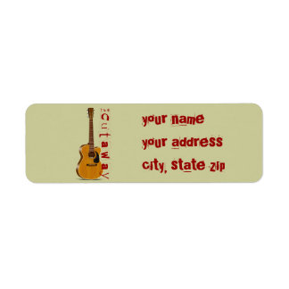 The Cutaway Acoustic Guitar Return Address Label