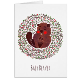 The Cute Baby Beaver Card