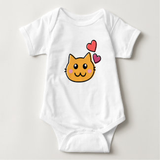 The cute cat baby bodysuit