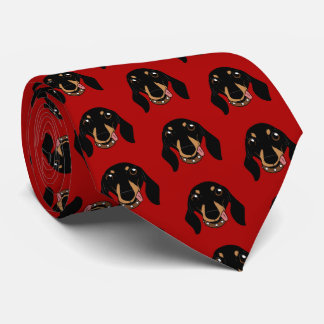 The cute Dachshund short-legged doggie friend Tie