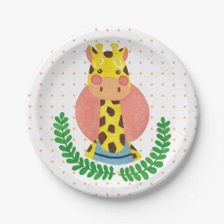 The Cute Giraffe 7 Inch Paper Plate