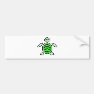 The Cute Green Sea Turtle Bumper Stickers