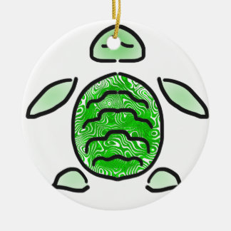 The Cute Green Sea Turtle Christmas Ornament