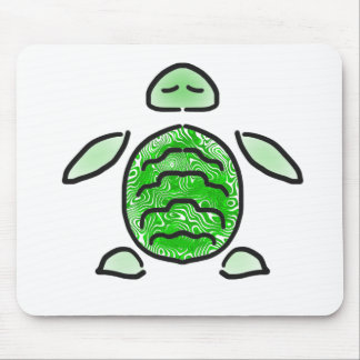 The Cute Green Sea Turtle Mouse Pad
