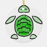 The Cute Green Sea Turtle Ornament