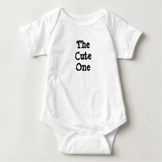 The Cute One, Family Humor Baby Tshirt One Piece