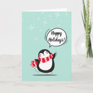 The Cute Penguin Holiday Card