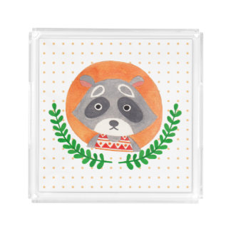 The Cute Raccoon Acrylic Tray