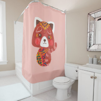 The Cute Red Panda Shower Curtain