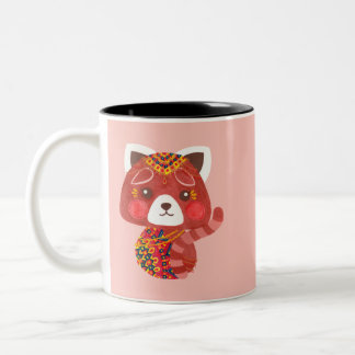 The Cute Red Panda Two-Tone Coffee Mug