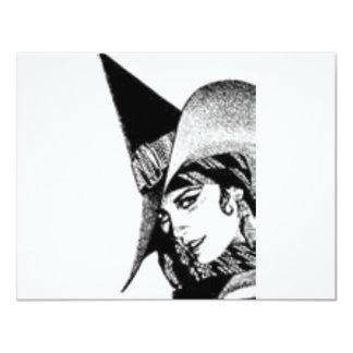 The Cute Witch 11 Cm X 14 Cm Invitation Card