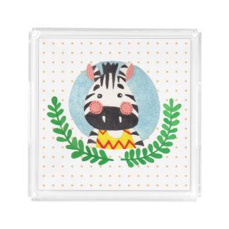 The Cute Zebra Acrylic Tray