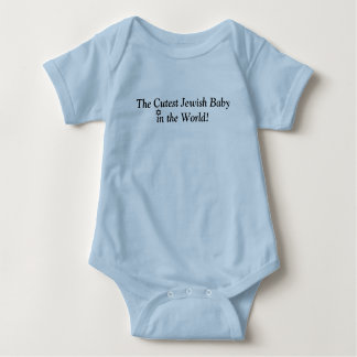 THE CUTEST JEWISH BABY BLUE CUTE OUTFIT BABY BODYSUIT