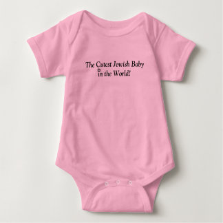 THE CUTEST JEWISH BABY PINK CUTE OUTFIT BABY BODYSUIT