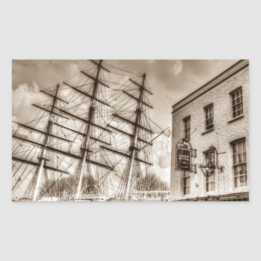 The Cutty Sark and Gipsy Moth Pub Greenwich Rectangle Sticker