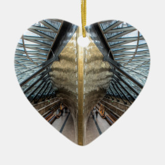 The Cutty Sark, Greenwich London Ceramic Heart Decoration