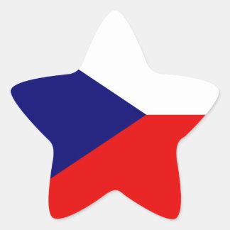 The Czech Republic Flag Star Sticker