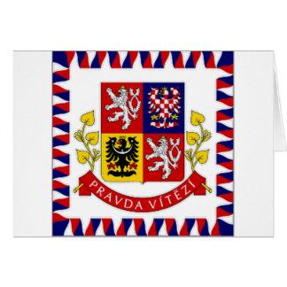 The Czech Republic President Flag Card
