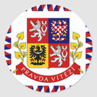 The Czech Republic President Flag Classic Round Sticker