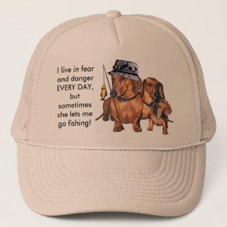 The Dachshund Fisherman Trucker Hat