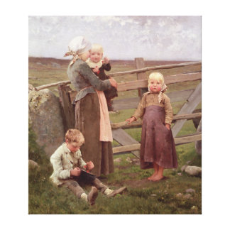 The Dalby Gate, Skane, 1884 Canvas Print
