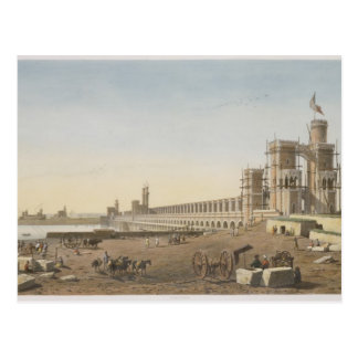 The Dam across the Nile, the building of the Aswan Postcard