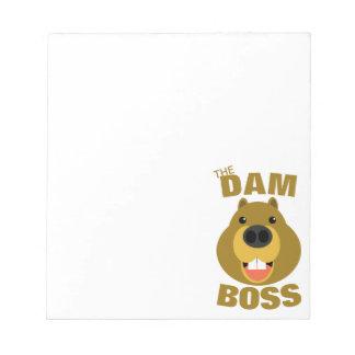 The Dam Boss Notepad
