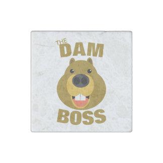 The Dam Boss Stone Magnet