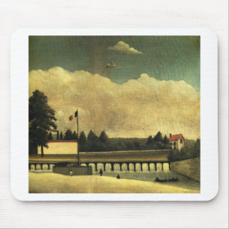 The Dam by Henri Rousseau Mouse Pad
