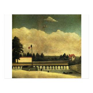 The Dam by Henri Rousseau Postcard